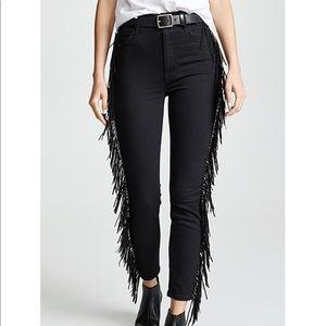 Mother denim high waisted fringe jean